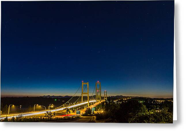 Star Night Over The Narrows Greeting Card by Ken Stanback