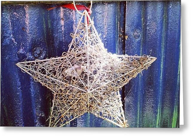 Star On Corregated Iron Greeting Card by Natasha Futcher