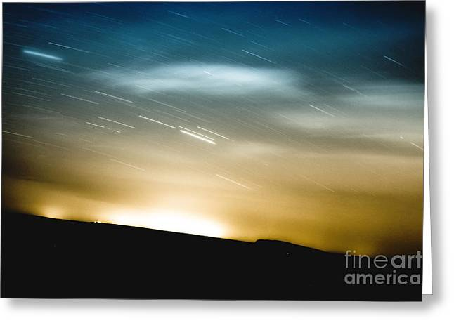Star Trails Greeting Card by Roth Ritter