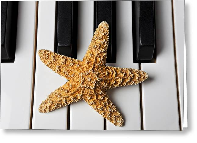 Starfish Piano Greeting Card by Garry Gay