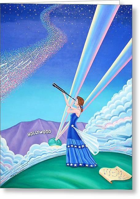 Stargazer Greeting Card by Tracy Dennison