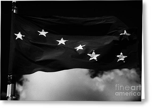 Starry Plough Flag Irish National Liberation Army Inla Ireland Greeting Card by Joe Fox