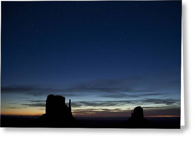 Starry Skies In The West Greeting Card by Andrew Soundarajan