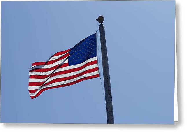 Stars And Stripes Greeting Card by Jerry Cahill
