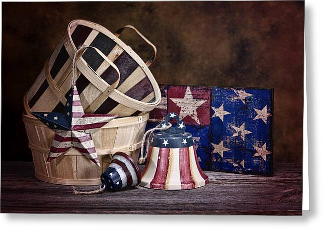 Stars And Stripes Still Life Greeting Card