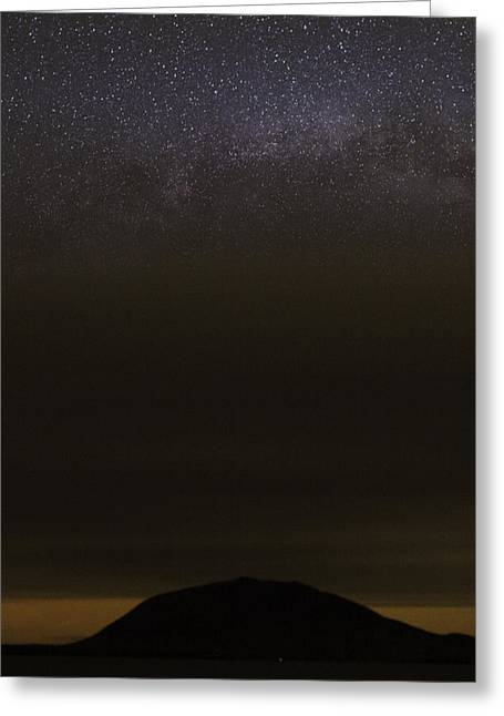 Greeting Card featuring the photograph Stars Over Little Spencer by Brent L Ander