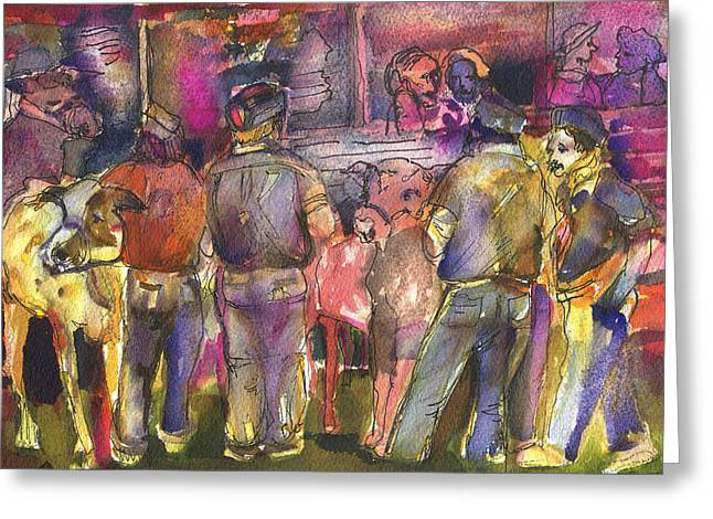State Fair Cattle Show Greeting Card by Mindy Newman