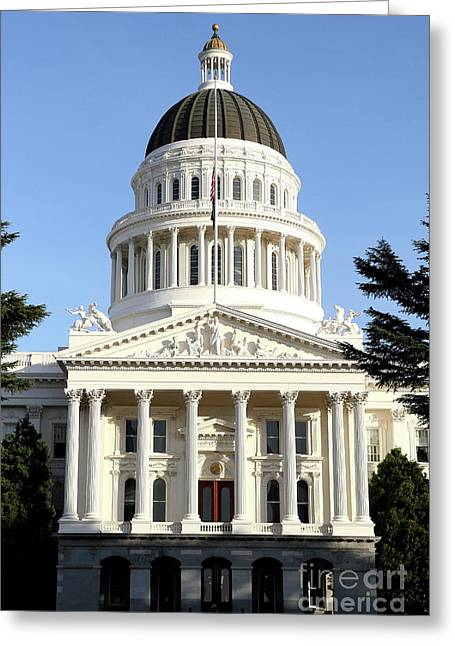 State Of California Capitol Building . 7d11736 Greeting Card by Wingsdomain Art and Photography