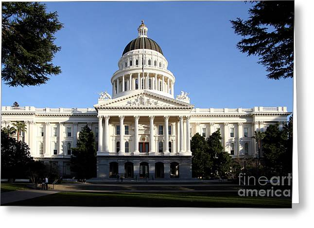 State Of California Capitol Building . 7d11746 Greeting Card by Wingsdomain Art and Photography