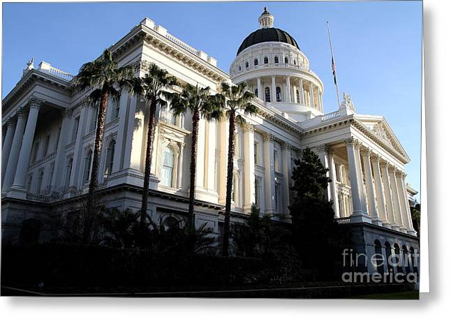 State Of California Capitol Building . 7d11752 Greeting Card by Wingsdomain Art and Photography