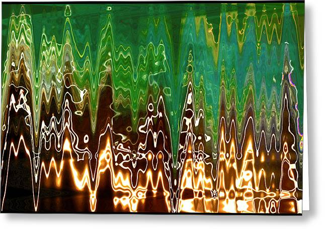 Static Frequency Greeting Card by Ginny Schmidt