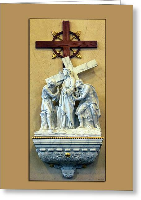 Station Of The Cross 02 Greeting Card by Thomas Woolworth