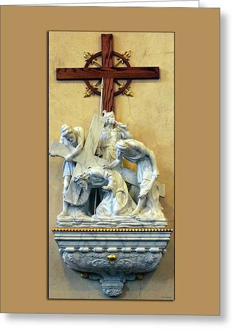 Station Of The Cross 03 Greeting Card by Thomas Woolworth