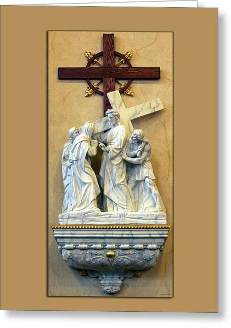 Station Of The Cross 04 Greeting Card by Thomas Woolworth