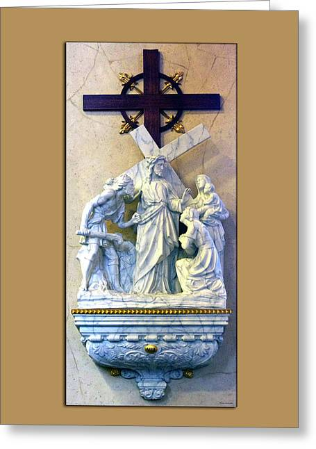 Station Of The Cross 08 Greeting Card by Thomas Woolworth