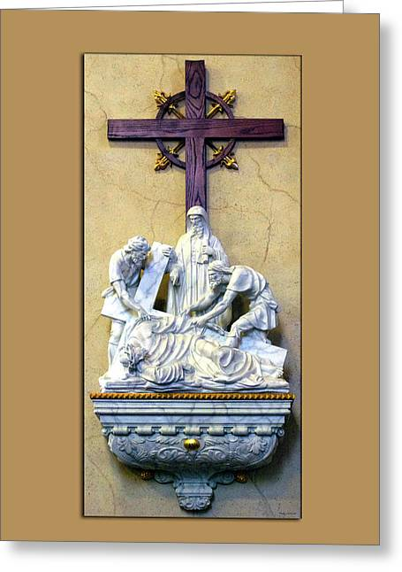 Station Of The Cross 09 Greeting Card by Thomas Woolworth