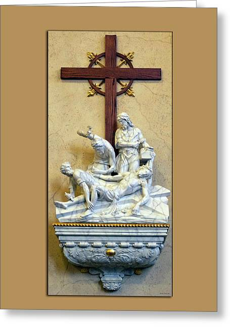 Station Of The Cross 11 Greeting Card by Thomas Woolworth