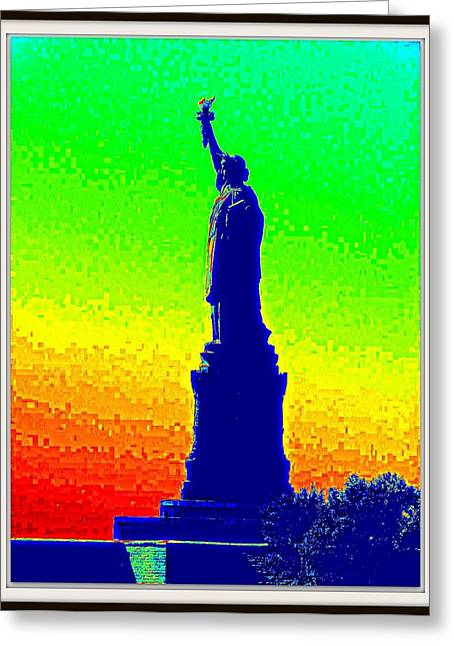 Statue Of Liberty-1 Greeting Card by Anand Swaroop Manchiraju