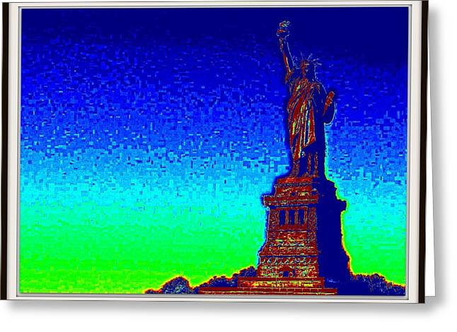 Statue Of Liberty-3 Greeting Card by Anand Swaroop Manchiraju