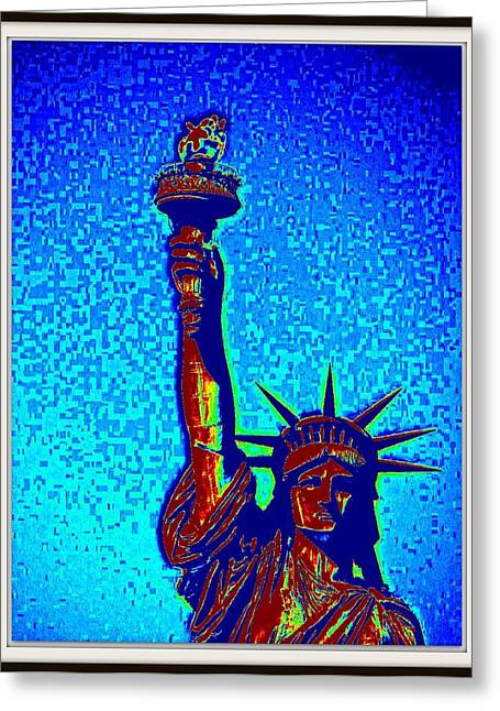 Statue Of Liberty-4 Greeting Card by Anand Swaroop Manchiraju