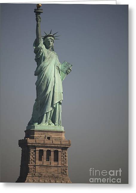 Statue Of Liberty, New York, Usa Greeting Card by Stocktrek Images