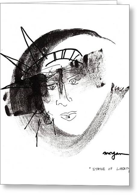 Statue Of Liberty Greeting Card by Patrick Morgan