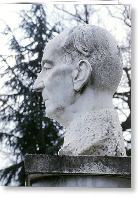 Statue Of Marconi Greeting Card by Sheila Terry