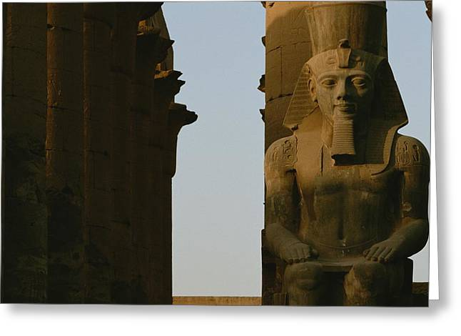 Statue Of Ramses II In The Luxor Temple Greeting Card by Kenneth Garrett