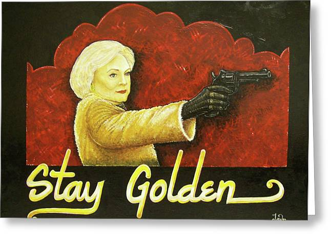 Stay Golden Greeting Card by Matthew Powell