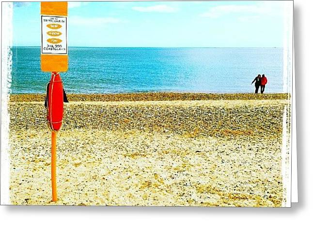 Stay Safe On The Beach #beach #sand Greeting Card