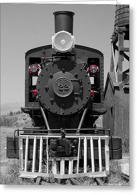 Greeting Card featuring the photograph Steam Engine Train by Deniece Platt