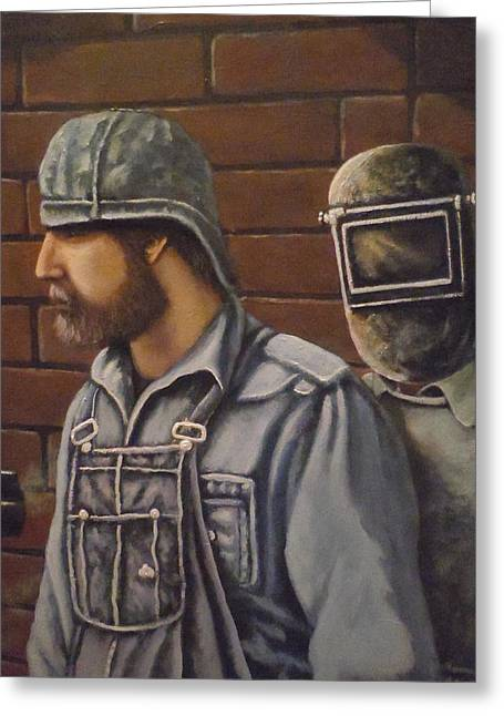 Steam Fitter And Welder Greeting Card