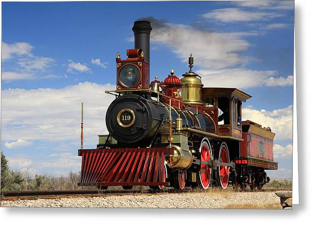 Steam Locomotive  Greeting Card by Gene Praag