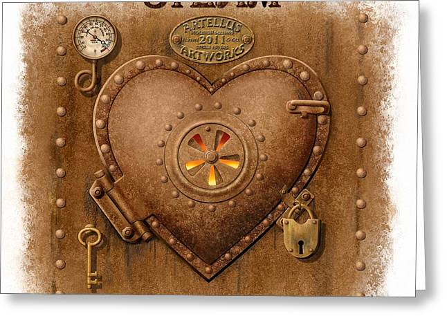 Steam Powered Heart Greeting Card