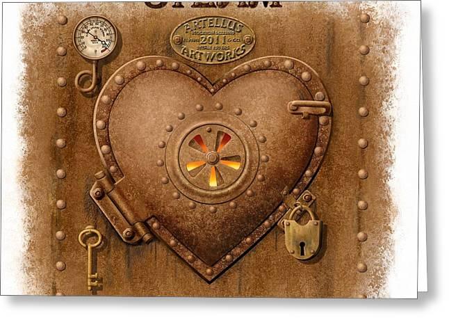 Steam Powered Heart Greeting Card