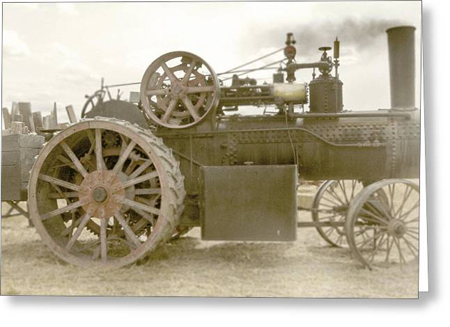 Steam Tractor Greeting Card by Kevin Felts