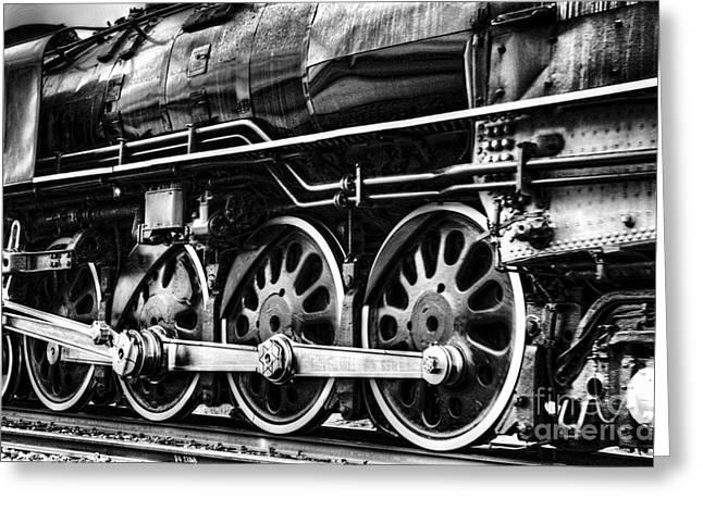 Steam Train No 844 - IIi Greeting Card by Donna Greene