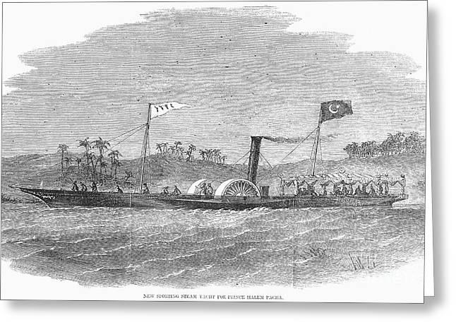 Steam Yacht, 1857 Greeting Card