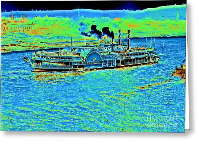 Steamboat 'cincinnati' 1906 Greeting Card