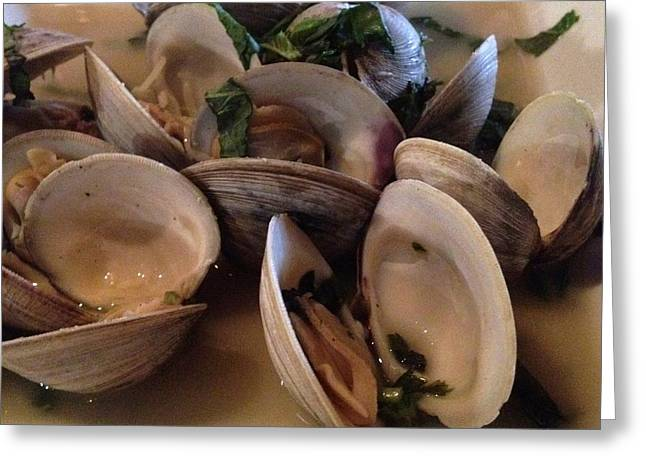 Steamed Clams For Dinner Greeting Card
