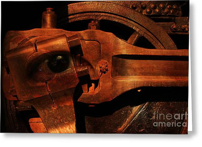 Steampunk Part Number 93063 Ghost In The Machine Greeting Card