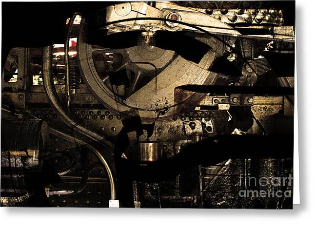 Steampunk Patent 1215 Prototype A . Gold Version Greeting Card by Wingsdomain Art and Photography