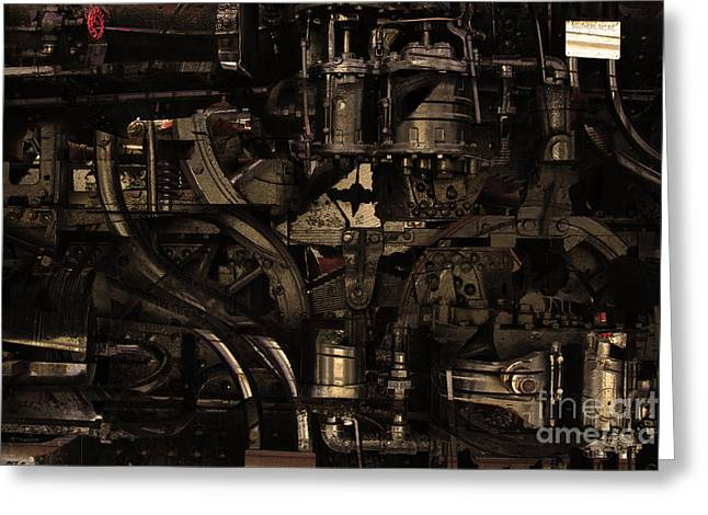 Steampunk Patent 1215 Prototype B . Gold Version Greeting Card by Wingsdomain Art and Photography