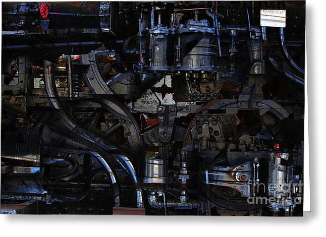 Steampunk Patent 1215 Prototype B Greeting Card by Wingsdomain Art and Photography