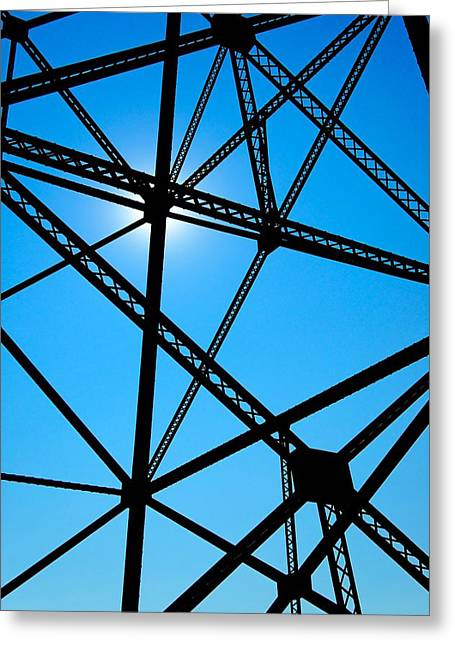 Greeting Card featuring the photograph Steampunk Sky Web by Trever Miller
