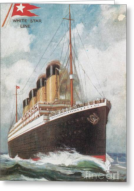Steamship Titanic Greeting Card by Photo Researchers