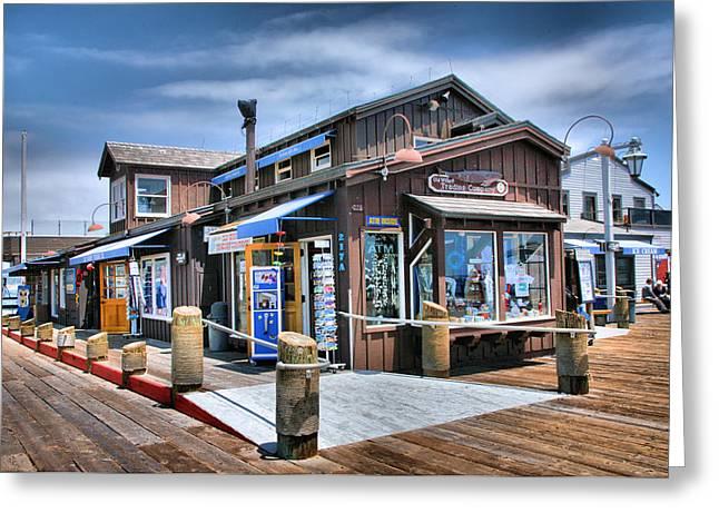 Stearn's Wharf I Greeting Card