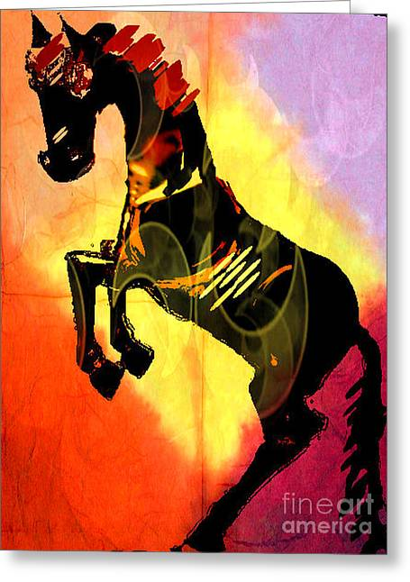 Steed 3 Greeting Card by Amber Stubbs