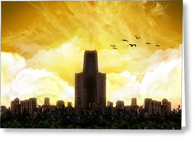Steel City Dawn Greeting Card