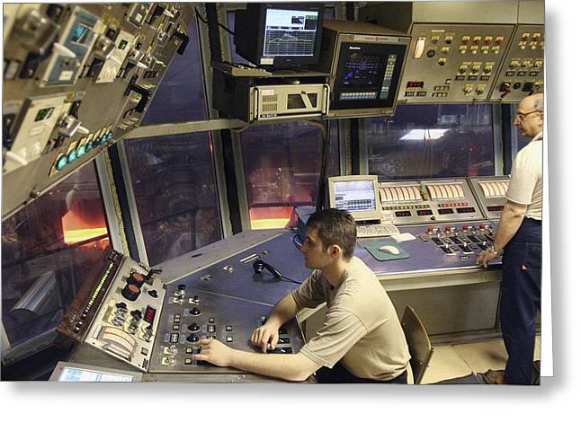 Steel Production Control Room Greeting Card by Ria Novosti